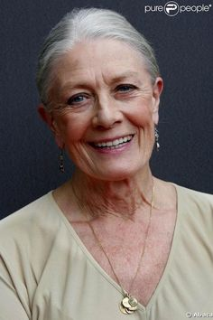 To age with grace, smiling all the way. Thank you, Vanessa Redgrave.