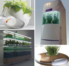 15 Fantastically Futuristic Plant Growing Design Concepts | WebEcoist The bath mat is my favorite.