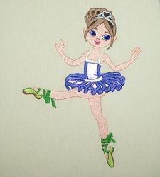 Irina Ballerina Applique - 6x10 | What's New | Machine Embroidery Designs | SWAKembroidery.com Embroidershoppe