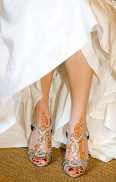 Mendhi and shoes