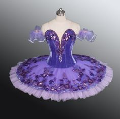 "This wonderful professional tutu has been created for the role of the Lilac Fairy in the ballet ""The Sleeping Beauty"". It can also be used for the ballet ""Le Corsaire' and for many other classical variations. Tutu Ballet, Bolshoi Ballet, Dance Recital Costumes, Ballet Costumes, Fairy Costumes, Nutcracker Costumes, Carnival Costumes, Purple Tutu, Purple Lilac"