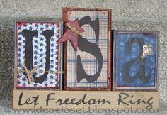 Patriotic Americana Crafts, Patriotic Crafts, July Crafts, Primitive Crafts, Summer Crafts, Holiday Crafts, Patriotic Room, Primitive Signs, Holiday Fun