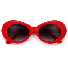 208e837595b Vintage 50 s Inspired Oval Cobain Sunnies (20 RON) ❤ liked on Polyvore  featuring accessories