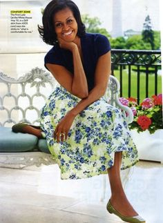 absolutely adore this skirt and the GREEN SHOES!!! The first lady soo many ppl's -including me- fashion idol