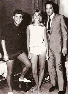 """Paul and Anne Anka with Elvis, 60s   Elvis Presley began performing Anka's song ['My Way'] in concert during the mid-1970s, in spite of suggestions by Paul Anka, that it was not a song that would suit him. Nevertheless, on January 12 and 14, 1973 Presley sang the song during his satellite show 'Aloha from Hawaii."""""""