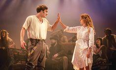 "Tom Bateman as Florizel and Jessie Buckley as Perdita in ""The Winter's Tale (Zimowa opowieść) at The Garrick Theatre. #KennethBranagh #JudiDench #Shakespeare"