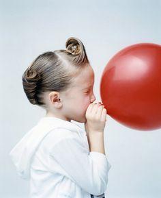 girl with red balloon by osamu yokonami.