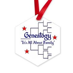 """Family Tree Chart Hexagon Ornament > """"It's All About Family"""" > Genealogy Store USA"""