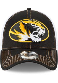 9a05b198946d4 New Era Missouri Tigers Black Mega Team Neo 2 Jr 39THIRTY Youth Flex Hat