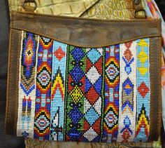 Leather Indian Beaded Purse