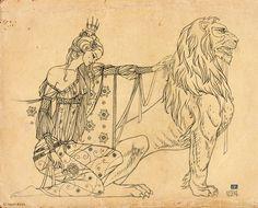 Una-and-The-Lion_Agata-KAWA_sketch.jpg (1114×900)