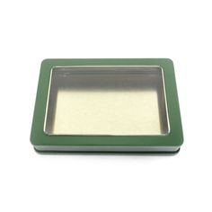 This rectangular window tin box has double lidded structure but only the top lid can flip over.It has a clear window on lid which can directly show products to customers.