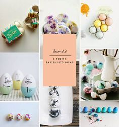 8 Fresh + Pretty Ways to Decorate Easter Eggs #eastereggs #holiday #crafty
