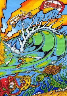 Kite Surf by Ndraws on deviantART