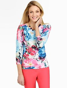 Talbots - Watercolor Floral Sweater | Sweaters | Misses