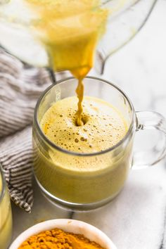 an easy golden turmeric latte recipe that's just as delicious as it is beautiful - great for a calming morning drink, or an afternoon pick-me-up!