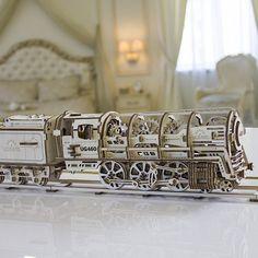 Self-Propelled Wooden Locomotive by UGEARS #Ingenious, #Train, #Wooden