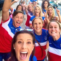 USWNT cheering on USMNT v Ghana (Instagram)