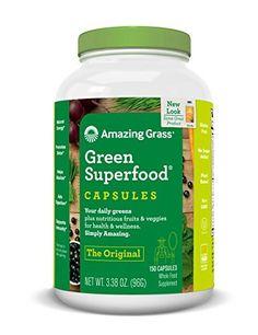 Amazing Grass Green SuperFood Original, 3.38 oz ( 96 g ) 150 capsules. //Price: $19.79 & FREE Shipping //     #hashtag1