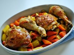 Íme, a mennyei sült csirke receptje! - MindenegybenBlog Tandoori Chicken, Pesto, Chicken Recipes, Ethnic Recipes, Food, Essen, Meals, Yemek, Eten
