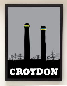 London Series Croydon by ArtStalker London Airports, London Places, Thornton Heath, Croydon London, London Pride, Black And White People, Local History, Typography Inspiration, Heritage Site