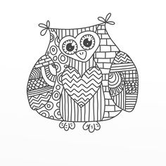 Easy Owl Doodle Doodle owl