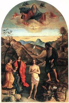 Baptism of Christ, St. John Altarpiece - Giovanni Bellini