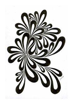 Linear no. 107 by Veganvictim on DeviantArt Stencil Patterns, Stencil Designs, Embroidery Patterns, Stencil Decor, Stencil Art, Flower Stencils, Dibujos Zentangle Art, Stencil Printing, Floral Border