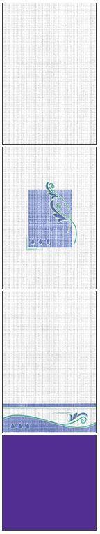 Millennium Tiles 200x300mm (8x12) Luster Concept Design Ceramic Wall Tiles - 232 - 234 - 233 - Royal Blue