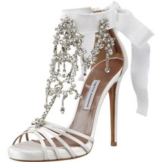 Tabitha Simmons Chandelier Crystal Sandal ($2,195) found on Polyvore