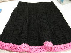 Free pattern - crocheted skirt, can be made ANY size!!! Love the shaping of this too :)