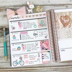 Spring Blooms Kit in my #eclphorizontal #plannergirl #planneraddict #plannerlayout #erincondrenlifeplanner #planning