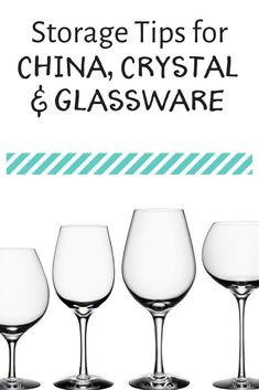 Storage tips for china, crystal and glassware for an organized dining room. I don't use my china or crystal very often so how it is stored is important. #diningroom #china #plates #crystal #glassware #homeorganization #homeorganizing #diningroomorganization