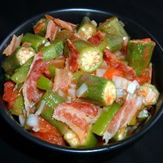Okra Salad Had this at a friends house!  It is DELICIOUS!