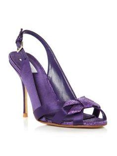 Untold Harp glitter trim sling back sandals Purple - House of Fraser