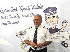 """Nach mehr als 46 Jahren Dienst, haben wir Kapitän Tarık Kalafat mit einer Überraschungsfeier in den Ruhestand verabschiedet. Kapitän Tarık Kalafat – wegen seiner um 15 Minuten verkürzten Flugzeiten von seinen Kollegen liebevoll """"Speedy Gonzales"""" genannt - war seit der Gründung von SunExpress in verschiedenen Bereichen tätig. Nach knapp 345 Flügen um die Erde, wünschen wir ihm für seinen Ruhestand alles Gute."""