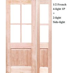 1/2 French 4-Light 1P Solid Timber Joinery Doors - Crown doors - Front door and side lights