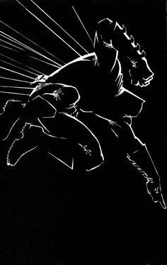 Batman by Frank Miller : comicbooks Batman Dark, Im Batman, Batman The Dark Knight, Batman Stuff, Frank Miller Art, Frank Miller Comics, Comic Book Artists, Comic Artist, Comic Books Art