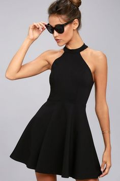 Hometown Girl Black Lace Skater Dress. Take the girl next door look up a  notch ... 2c553e469