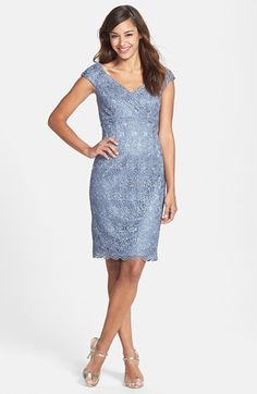 Mother of the bride dress Patra Crochet Sheath Dress available at #Nordstrom