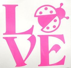 Love Ladybug Lucky Sexy Cool Car Truck Window Vinyl Decal Sticker 12 COLORS #TheStickerEmporium