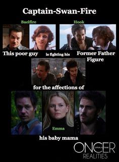 Yeah - and this is after that father figure ran off with Bae's own mother too! Poor Neal LOL. Still ship Captain Swan SO HARD, in spite of his history with Bae!