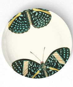 Butterfly+turquoise+butterfly+on+10+inch+by+TheMadPlatters+on+Etsy,+$18.00