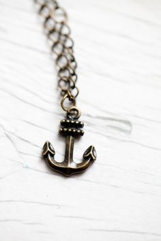 Anchor Necklace .Nautical . Chain . Cute . Summer . Sailor . ONLY 1 PIECE. $15.00, via Etsy.