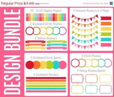 60%OFF - SALE - Fruit Punch Design Bundle Digital by MareeTruelove