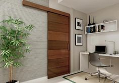 Home Office Sliding Barn Door