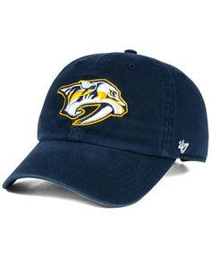 47 Brand Nashville Predators Blue Fitted Hat  predators  preds ... 2b32b5edb280