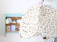 Crochet Lampshade - cream