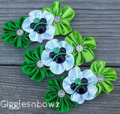 ST PaTRiCKs DaY SeT of 3 Embellished Satin CLuSTeR by gigglesnbowz, $7.50