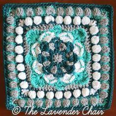 Azalea Mandala Square Crochet Pattern - The Lavender Chair Square 19